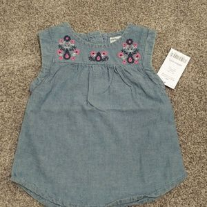 Baby girl sleeveless shirt NWT